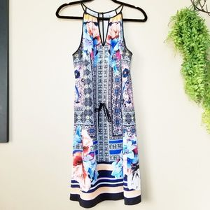 Clover Canyon | Floral Mirrored Halter Dress